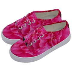 Pink Flower Japanese Tea Rose Floral Design Kids  Classic Low Top Sneakers by yoursparklingshop