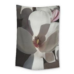 Magnolia Floral Flower Pink White Small Tapestry