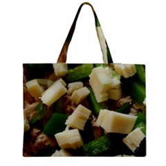 Cheese And Peppers Green Yellow Funny Design Medium Tote Bag by yoursparklingshop