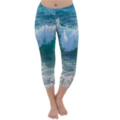 Awesome Wave Ocean Photography Capri Winter Leggings  by yoursparklingshop