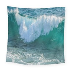 Awesome Wave Ocean Photography Square Tapestry (large) by yoursparklingshop