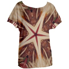 Spaghetti Italian Pasta Kaleidoscope Funny Food Star Design Women s Oversized Tee by yoursparklingshop