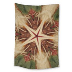 Spaghetti Italian Pasta Kaleidoscope Funny Food Star Design Large Tapestry by yoursparklingshop