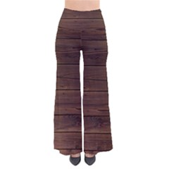 Rustic Dark Brown Wood Wooden Fence Background Elegant Pants by yoursparklingshop