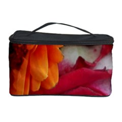 Floral Photography Orange Red Rose Daisy Elegant Flowers Bouquet Cosmetic Storage Case by yoursparklingshop
