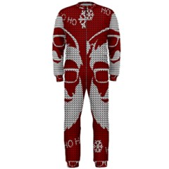 Ugly Christmas Sweater Onepiece Jumpsuit (men)  by Valentinaart