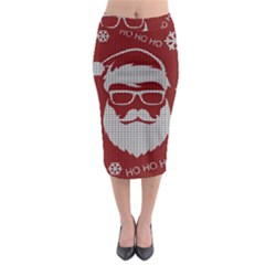 Ugly Christmas Sweater Midi Pencil Skirt by Valentinaart