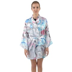 Color Magic Long Sleeve Kimono Robe