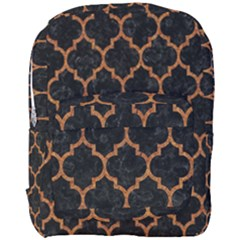 Tile1 Black Marble & Teal Leather (r) Full Print Backpack by trendistuff