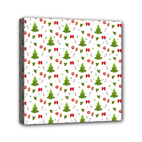 Christmas Pattern Mini Canvas 6  X 6  by Valentinaart