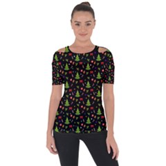 Christmas Pattern Short Sleeve Top
