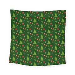 Christmas Pattern Square Tapestry (small) by Valentinaart