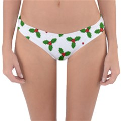Christmas Pattern Reversible Hipster Bikini Bottoms by Valentinaart