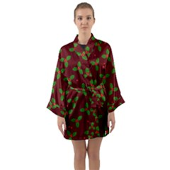 Christmas Pattern Long Sleeve Kimono Robe