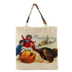 Vintage Thanksgiving Grocery Tote Bag