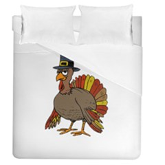 Thanksgiving Turkey  Duvet Cover (queen Size) by Valentinaart