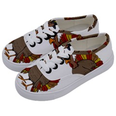 Thanksgiving Turkey  Kids  Classic Low Top Sneakers by Valentinaart