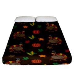 Thanksgiving Turkey  Fitted Sheet (king Size)