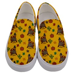 Thanksgiving Turkey  Men s Canvas Slip Ons