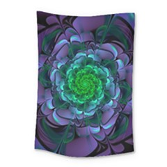 Beautiful Purple & Green Aeonium Arboreum Zwartkop Small Tapestry by jayaprime