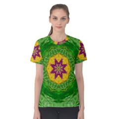 Feathers In The Sunshine Mandala Women s Cotton Tee by pepitasart