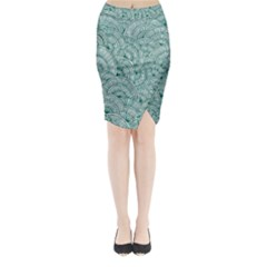 Design Art Wesley Fontes Midi Wrap Pencil Skirt by wesleystores