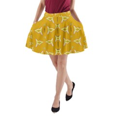 Fishes Talking About Love And   Yellow Stuff A Line Pocket Skirt by pepitasart
