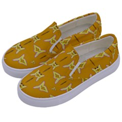 Fishes Talking About Love And   Yellow Stuff Kids  Canvas Slip Ons by pepitasart