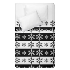 Snowflakes   Christmas Pattern Duvet Cover Double Side (single Size) by Valentinaart