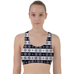 Snowflakes   Christmas Pattern Back Weave Sports Bra
