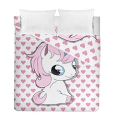 Baby Unicorn Duvet Cover Double Side (full/ Double Size)