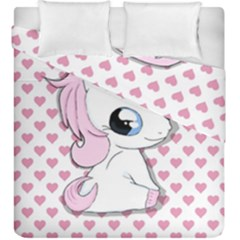 Baby Unicorn Duvet Cover Double Side (king Size)