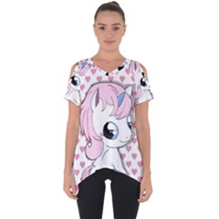 Baby Unicorn Cut Out Side Drop Tee