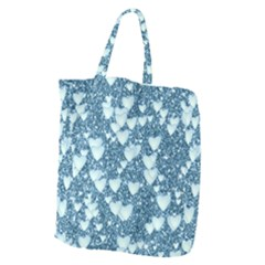 Hearts On Sparkling Glitter Print, Teal Giant Grocery Zipper Tote by MoreColorsinLife