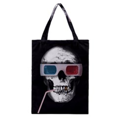 Cinema Skull Classic Tote Bag by Valentinaart