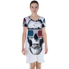 Cinema Skull Short Sleeve Nightdress