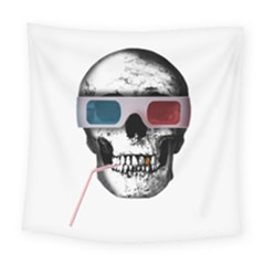 Cinema Skull Square Tapestry (large) by Valentinaart