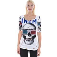 Cinema Skull Wide Neckline Tee