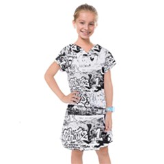 Graffiti Kids  Drop Waist Dress