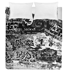 Graffiti Duvet Cover Double Side (queen Size) by Valentinaart