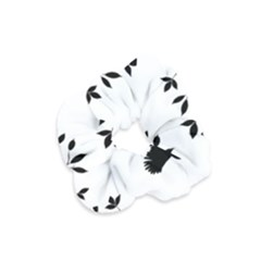 Bird Tree Black Velvet Scrunchie
