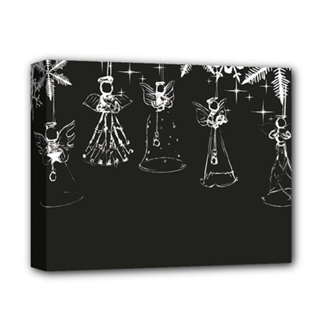 Christmas Angels Star Blue Deluxe Canvas 14  X 11