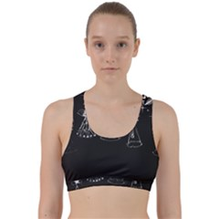 Christmas Angels Star Blue Back Weave Sports Bra