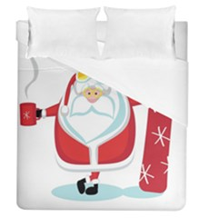 Christmas Santa Claus Duvet Cover (queen Size) by Alisyart