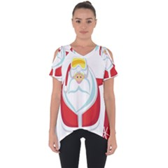 Christmas Santa Claus Cut Out Side Drop Tee