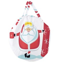 Christmas Santa Claus Giant Round Zipper Tote by Alisyart