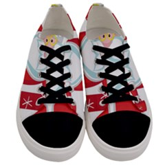 Christmas Santa Claus Men s Low Top Canvas Sneakers