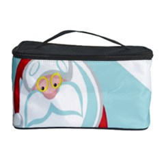 Christmas Santa Claus Paragliding Cosmetic Storage Case by Alisyart