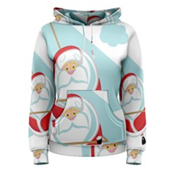 Christmas Santa Claus Paragliding Women s Pullover Hoodie