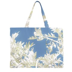 Nature Pattern Zipper Large Tote Bag by dflcprintsclothing